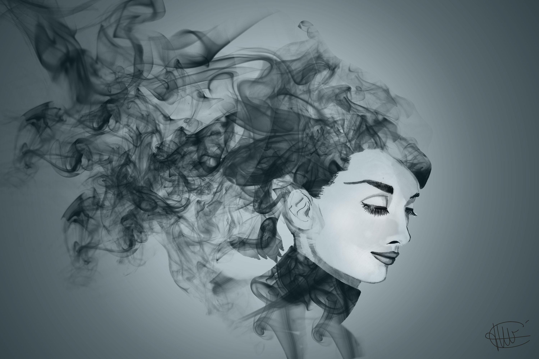 Dessin de cecile jonquiere - cecile jonquieres - Photo montage à partir d'un dessin représentant Audrey Hepburn