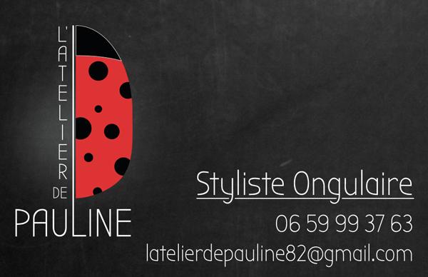 Carte De Visite Atelier Pauline Styliste Ongulaire