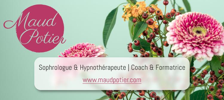 Visuel Maud Potier | Sophrologue Hypnothérapeute | Coach & Formatrice
